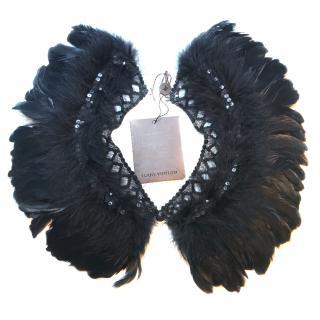 Louis Vuitton Black Feather Collar