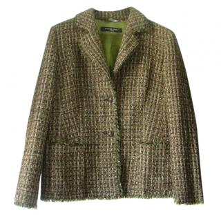 Marina Rinaldi Sport Green and Gold Metallic Blazer