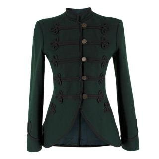 Ralph Lauren Green Wool Military Jacket