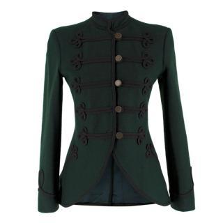 Ralph Lauren Green Wool Military Jacket