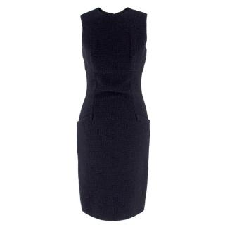 Valentino Boutique Black Fitted Wool Dress