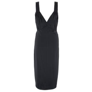 Chanel Black Silk Slip Dress