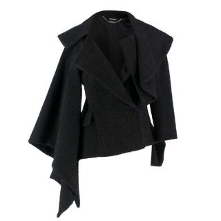 Alexander McQueen Black Abstract Knit Jacket