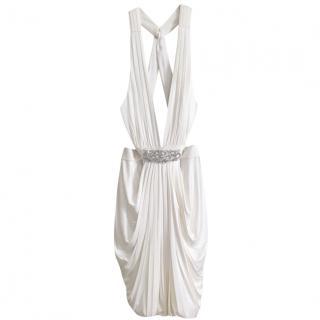 BCBG Maxazria white mini dress