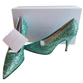 Victoria Beckham Glitter Court Heels
