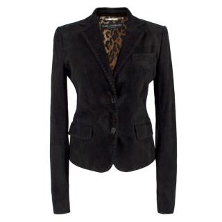 Dolce & Gabbana Black Suede Blazer
