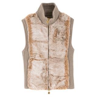 Fendi Knit Vest with Rabbit Fur