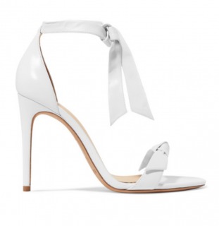 Alexandra Birman White bow sandals