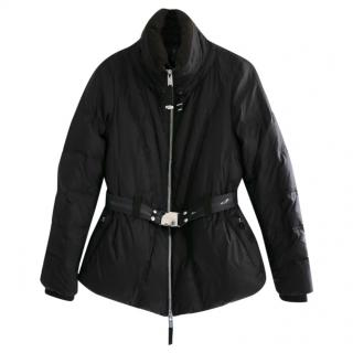 Claire Campbell Black Adjustable Hem Puffa Coat