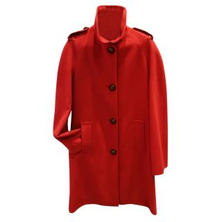 Burberry Red Cashmere Coat