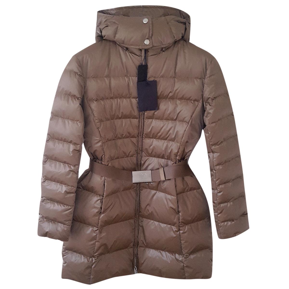 b6c675d3f Prada goose down padded coat with hood