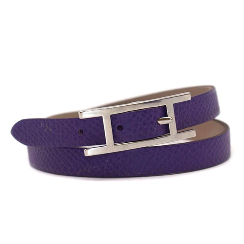 Hermes Behapi Epsom Leather Double Tour Bracelet