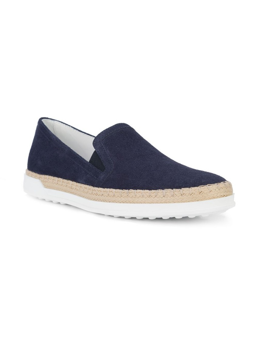Tod's navy slip-on espadrille sneakers