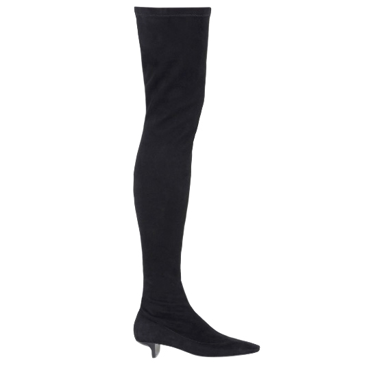 Stella McCartney soft stretch velvet alter suede over-the-knee boots