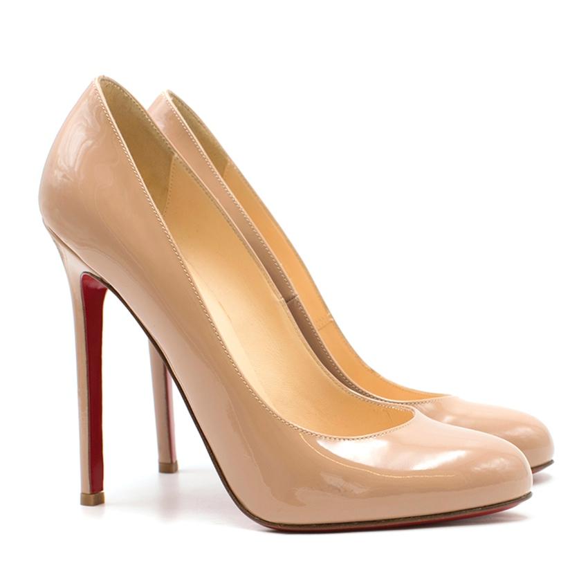 separation shoes 1c8e9 37247 Christian Louboutin Nude Patent Fifille 100 Pumps