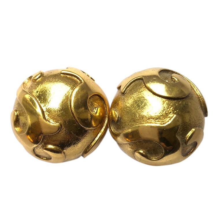 Yves Saint Laurent Large Gold Earrings