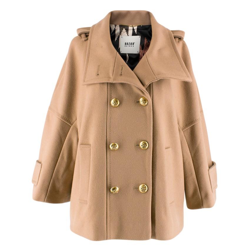 08fcedf8b7 Bazar Deluxe Camel Wool Military Jacket