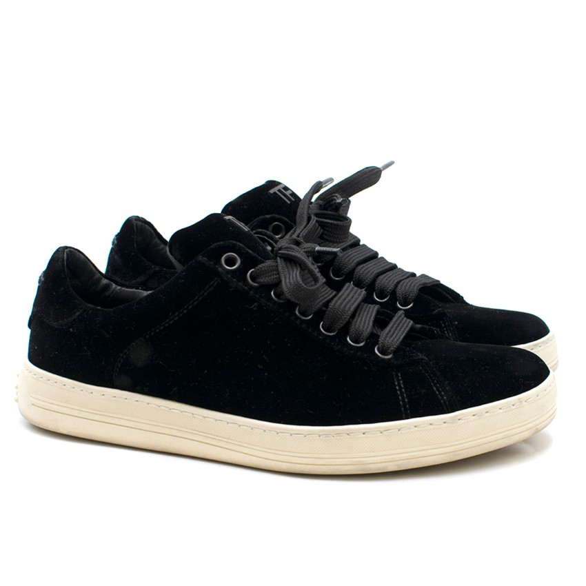 b1708656a Tom Ford Black Velvet Trainers