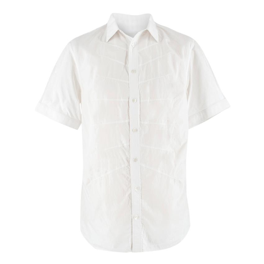Alexander McQueen White Cotton Rib Embroidered Shirt