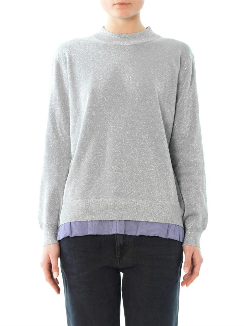 Acne Studios 'Mysti' Lurex Knit Sweater