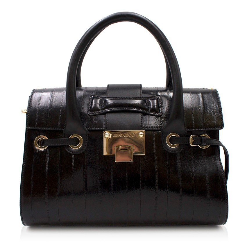 Jimmy Choo Black Eel Rosalie Bag