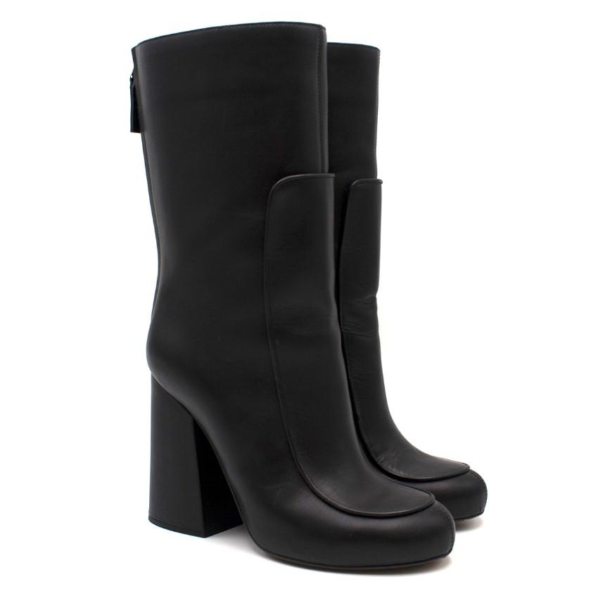 Victoria Beckham Black Leather Calf Boots