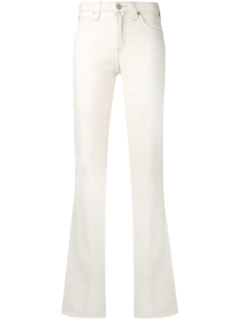 Armani Jeans White Straight Leg Jeans