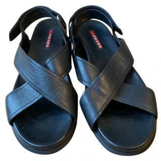 Prada Criss-Cross Sandals