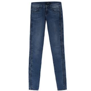 J Brand Liberty Mid Wash Blue Skinny Jeans