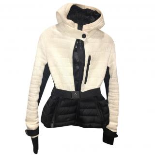 Moncler Black & White Peplum Down Jacket