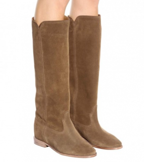 Isabel Marant Cleave Calfskin Velvet Leather Boots