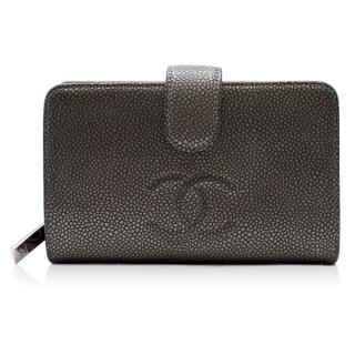 Chanel Galuchet Silver Stingray CC Wallet