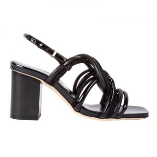 Paul Smith Black Patent & Suede Leather Carla Sandals
