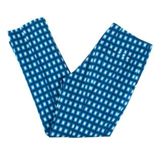 Prada Blue Abstract Patterned Cigarette Pants