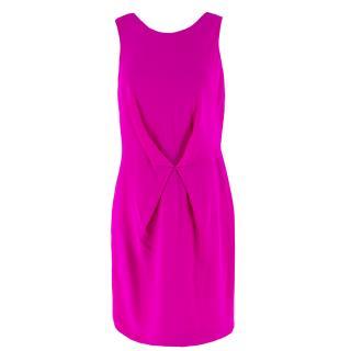 Versace Pink Gathered Mini Dress