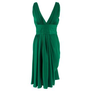 Prada Green Pleated Dress