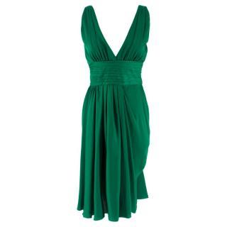 Prada Green Pleated Dress