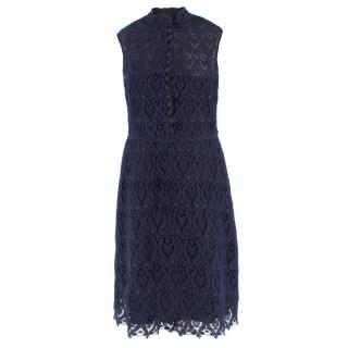 Valentino Navy Lace Dress