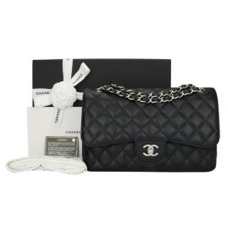 Chanel Black Caviar Jumbo Double Flap Bag