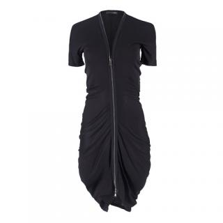 Alexander McQueen Black Zip Dress