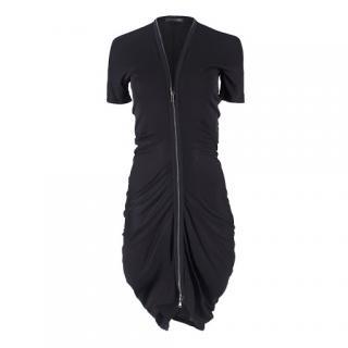 Alexander McQueen Black Zip Dress