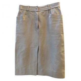 Louis Vuitton leather pencil skirt