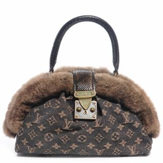 Louis Vuitton Limited edition Denim and Chinchilla Handbag
