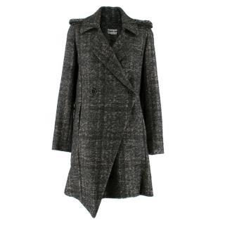 Markus Lupfer Grey Knit Asymmetric Coat