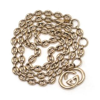 Gucci Gold Tone Mariner Link Chain Belt