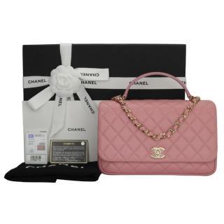 CHANEL Pink Lambskin Citizen Chic Medium Flap Bag