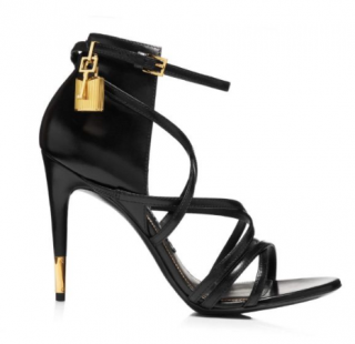 Tom Ford Calfskin Strappy Padlock Sandals