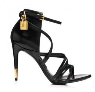 Tom Ford Calfskin Strappy Padlock Sandals