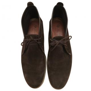 Loro Piana Brown Suede Soft Walk Chukka Boot EU 43.5 RRP �650