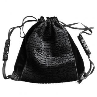 Claire Campbell �500 Crocodile Velvet Backpack Rucksack Bag New